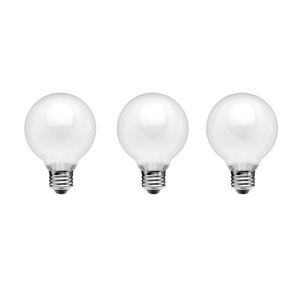 Ecosmart globe dimmable light bulbs lighting the home depot 40 watt equivalent g25 dimmable frosted filament led light arubaitofo Image collections