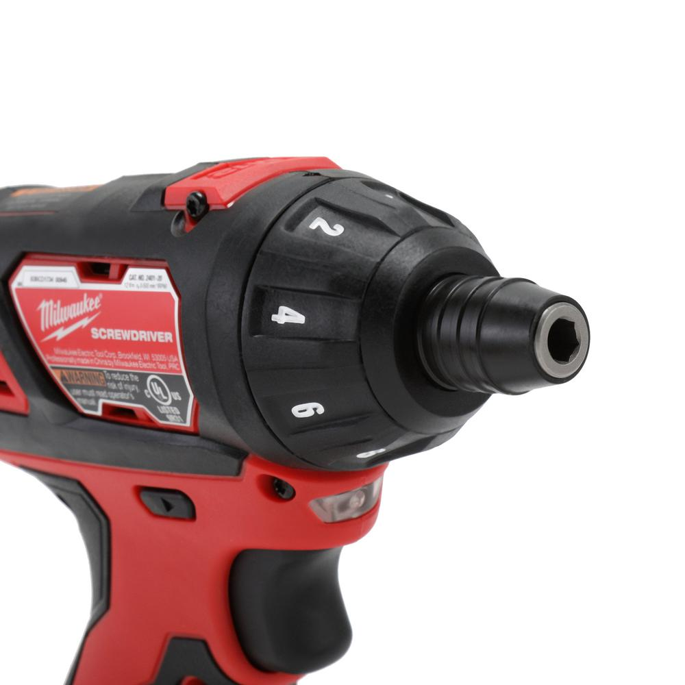 Cordless screwdriver featuring a 40-piece bit set