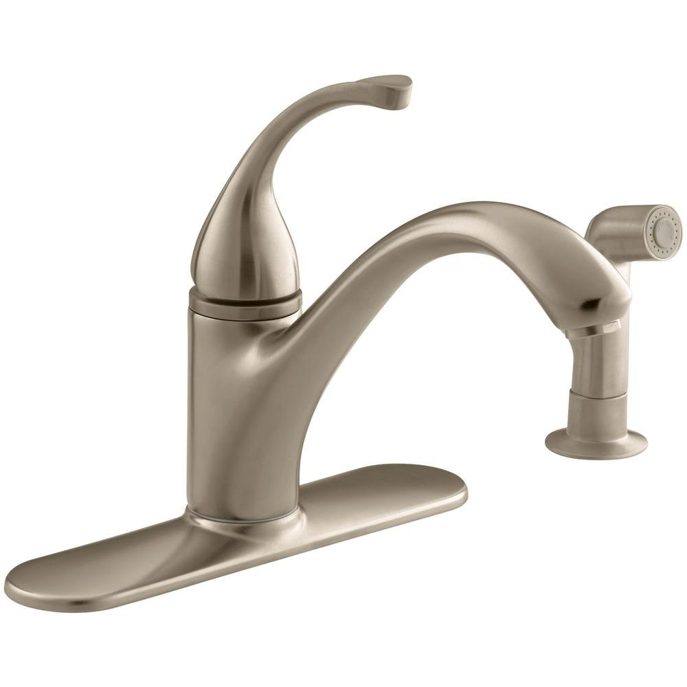 Delta 755 pt aged pewter single handle centerset bathroom faucet less - Forte Single Handle Standard Kitchen Faucet With Side Sprayer In Vibrant Brushed Bronze