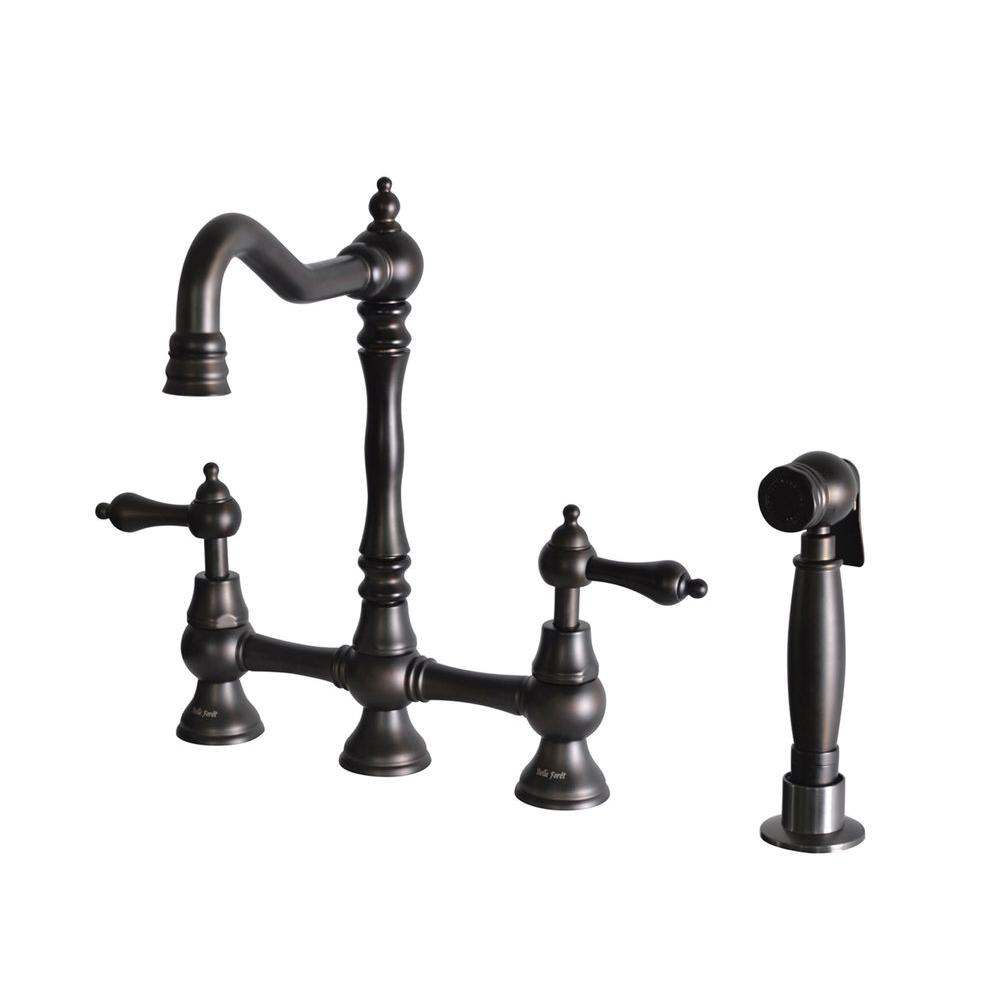 Double Handle Kitchen Faucet Yow Two Handle Kitchen Faucets Faucets Kitchen