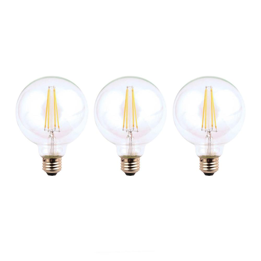 Ecosmart globe dimmable light bulbs lighting the home depot 60 watt equivalent g25 dimmable clear filament led light bulb daylight 3 arubaitofo Image collections