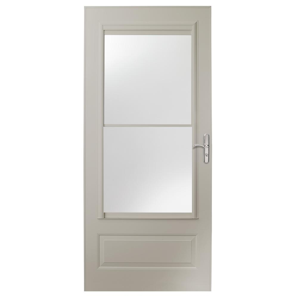 Storm doors exterior doors the home depot - 30 x 80 exterior door with pet door ...