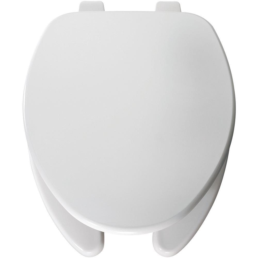 Church Elongated Open Front Toilet Seat Pro Top Tite Hinge